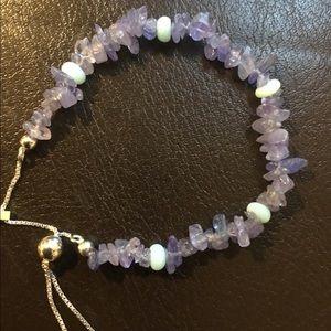 Jewelry - Tanzanite, Blue Opal Sterling Silver Bracelet